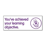 You've Achieved Your Learning Objective Stamper - Purple Ink (38mm x 15mm)