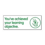 You've Achieved Your Learning Objective Stamper - Green Ink (38mm x 15mm)