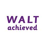 WALT Achieved Stamper - Purple Ink (38mm x 15mm)