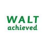 WALT Achieved Stamper - Green Ink (38mm x 15mm)