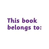 This Book Belongs to: Stamper - Purple Ink (38mm x 15mm)