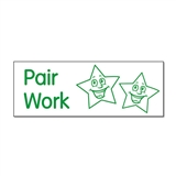 Pair Work Stamper (Stars) - Green Ink (38mm x 15mm)