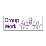 Group Work Stamper (Stars) - Purple Ink (38mm x 15mm)