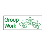 Group Work Stamper (Stars) - Green Ink (38mm x 15mm)