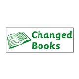 Changed Books Stamper - Green Ink (38mm x 15mm)