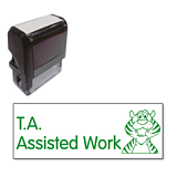 T.A. Assisted Work Stamper - Green Ink (38mm x 15mm)