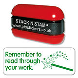 Remember to Read Through Your Work Stack & Stamp