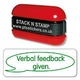 Verbal Feedback Given Stamper - Stack N Stamp