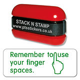 Use Finger Spaces - Stack N Stamp