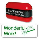Wonderful Work Wand Stack & Stamp - Green Ink (38mm x 15mm)