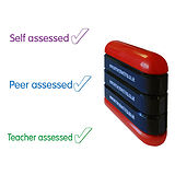 Teacher Peer Self Assessed 3-in-1 Stack & Stamp