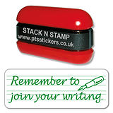 Remember to Join Your Writing Stack & Stamp - Green Ink (38mm x 15mm)