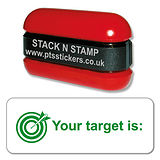 Your Target is: Stack & Stamp - Green Ink (38mm x 15mm)