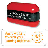 You're Working Toward Your Learning Obj Stack & Stamp - Orange Ink (38mm x 15mm)