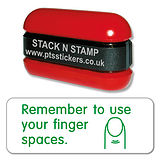 Remember to use your finger spaces Stack & Stamp