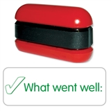 What Went Well Tick Stack & Stamp - Green Ink (38mm x 15mm)