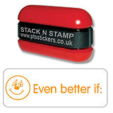 Even Better if Smile Stack & Stamp - Orange Ink (38mm x 15mm)