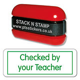 Checked by your Teacher Stamper - Stack & Stamp