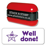 Well done! Star Stack & Stamp - Purple Ink (38mm x 15mm)