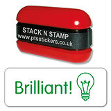 Brilliant light bulb Stack & Stamp - Green Ink (38mm x 15mm)