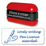 Lovely Writing Pen Licence Awarded Stack & Stamp