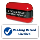 'Reading Record Checked' Stack & Stamp (38mm x 15mm, Blue Ink)