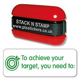 To Achieve Your Target, You Need to: Stack & Stamp