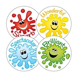 Happy Splash Stickers (20 Stickers - 32mm) Brainwaves