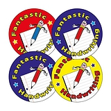 Fantastic Handwriting Stickers (20 Stickers - 32mm)