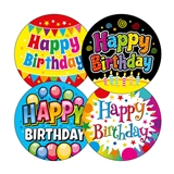 Happy Birthday Stickers (20 Stickers - 32mm) Brainwaves