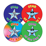 Star of the Day Stickers (20 Stickers - 32mm)