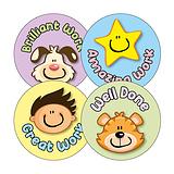 Hard Work Reward Stickers (20 Stickers - 32mm)