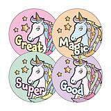Pastel Unicorn Stickers (20 Stickers - 32mm)