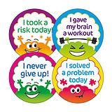 Growth Mindset Brain Stickers (32mm - 20 Stickers)
