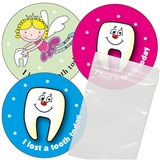 Lost Tooth Stickers with 100 Bags