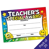 Teacher's Special Award - Multi Colour (20 Certificates - A5)