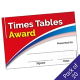 Times Tables Award Certificates (20 Certificates - A5)
