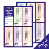 My Times Tables Record Cards (32 Cards - A5)