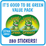 It's Good to be Green Stickers Value Pack (280 Stickers - 37mm)