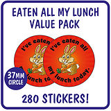 Value Pack I've Eaten All My Lunch Stickers (37mm x 280)