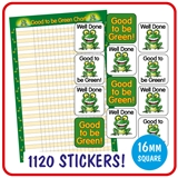Good to be Green Stickers Value Pack (1120 Stickers - 16mm)