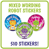 Robot Stickers Value Pack (510 Stickers - 25mm)