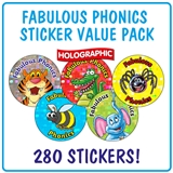 Holographic Fabulous Phonics Stickers Value Pack (280 Stickers - 20mm)