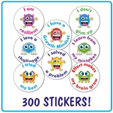 Growth Mindset Stickers Value Pack (25mm,  x 300 Stickers)