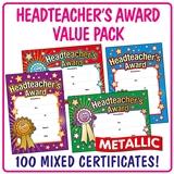 Headteacher's Award Metallic Certifcates (100 Certifcates - A5) Brainwaves