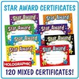 Star Award Megamix Certificates (120 Certificates - A5) Value Pack