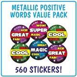 Metallic Stickers Value Pack (560 Stickers - 25mm)