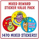 Mixed Reward Stickers (1470 Stickers - 25mm) Brainwaves