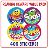 Reading Stickers (400 Stickers - 32mm) Brainwaves