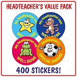 Headteacher's Reward Stickers (400 Stickers - 32mm) Brainwaves